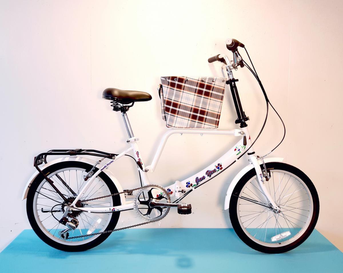 台製 20吋 6速 SHIMANO 摺疊 小籃 寵物腳踏車 0