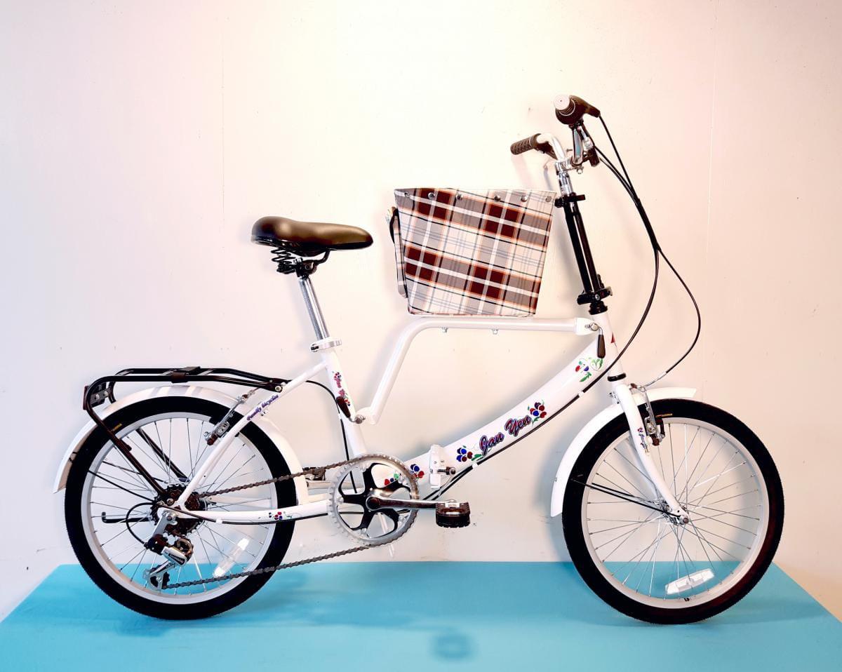 台製 20吋 6速 SHIMANO 摺疊 小籃 寵物腳踏車 2