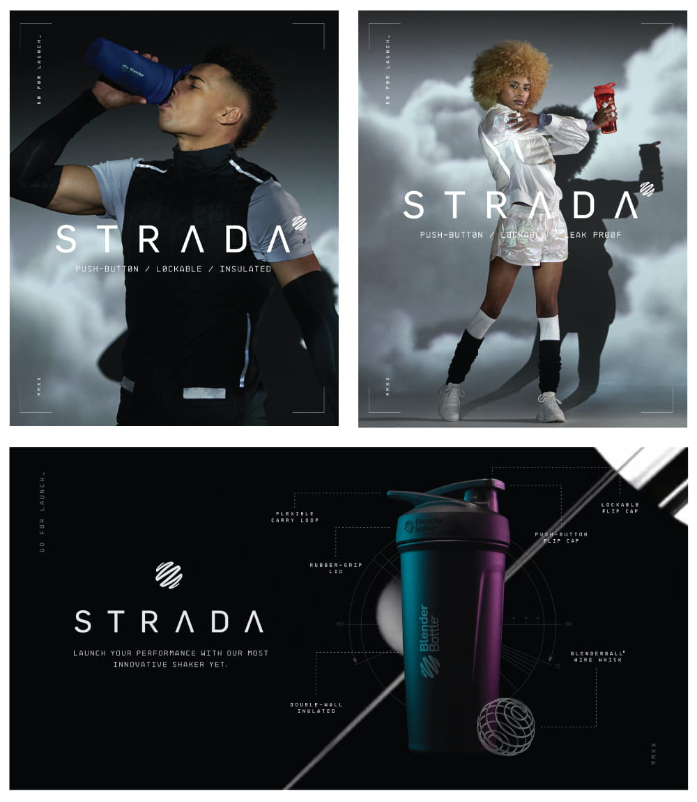 【Blender Bottle】Strada系列|雙層不鏽鋼|卓越搖搖杯|24oz|5色 14