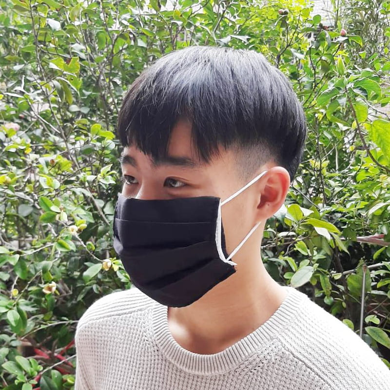 MIT素色棉布三折款口罩保護套 透氣薄款 (顏色隨機)【AG06008】 3