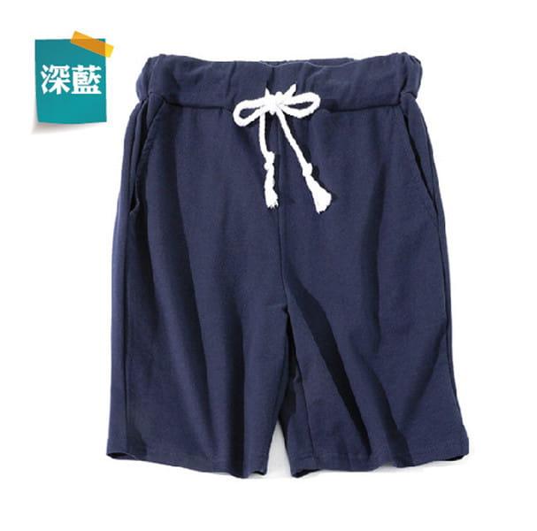 棉質休閒運動短褲 薄款透氣 抽繩男女款 舒適健身褲 10
