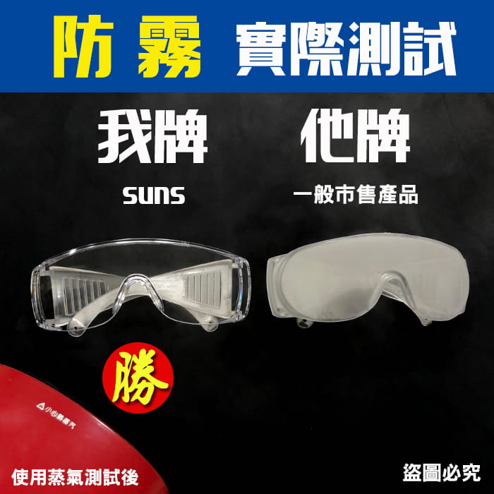 MIT 戶外護目鏡抗UV400 檢驗合格 (可套式) 3