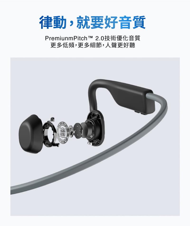 【AFTERSHOKZ】OPENMOVE AS660骨傳導藍牙運動耳機(純真白) 13