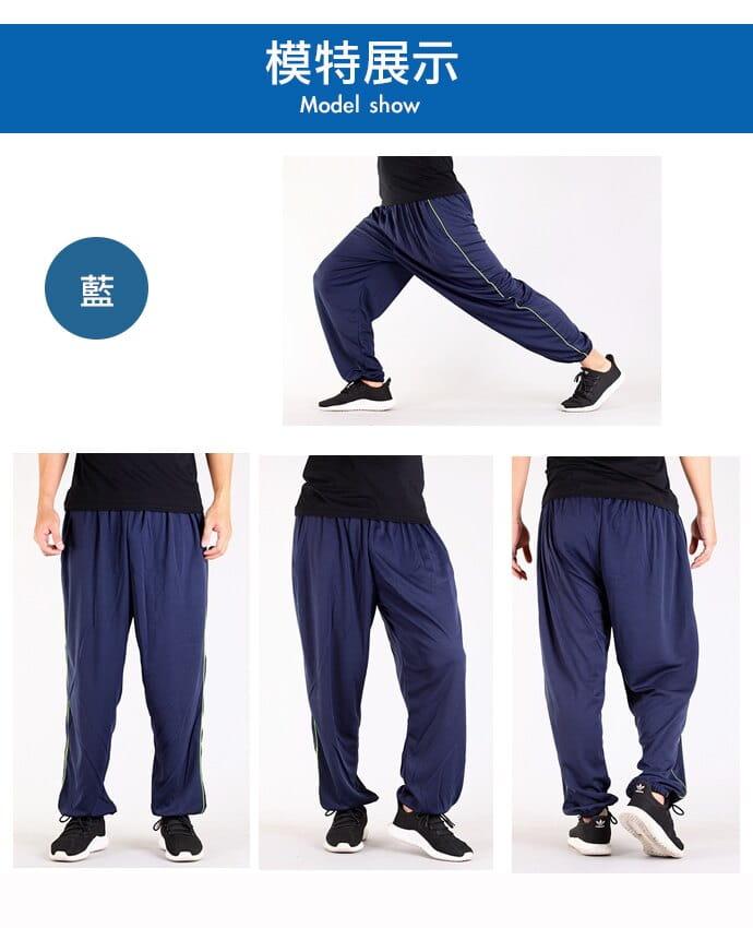 【CS衣舖】加大尺碼 32-52腰 吸濕排汗 鬆緊腰圍 運動長褲 6