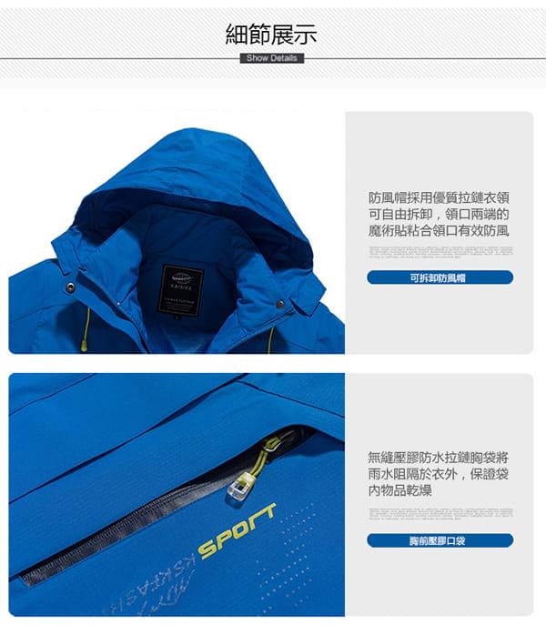男女戶外機能防風防水衝鋒外套 18
