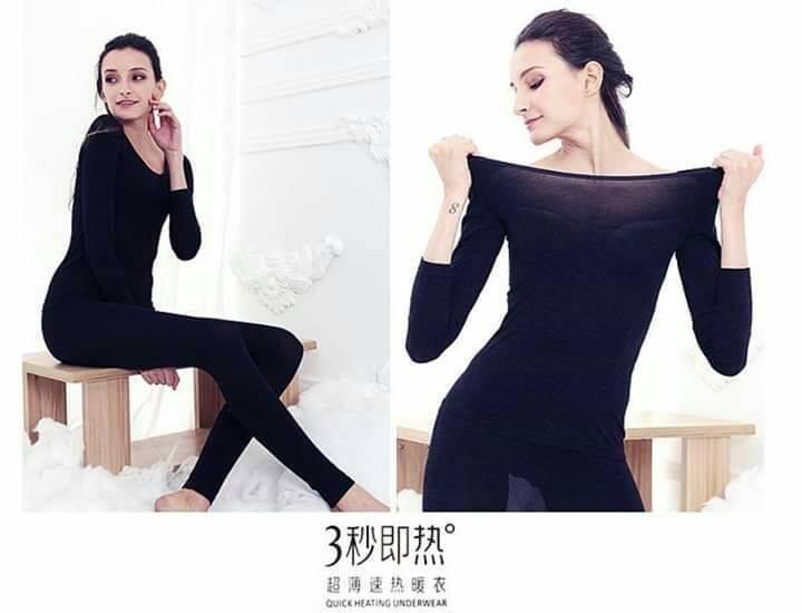 加厚款發熱衣套裝(女) 2