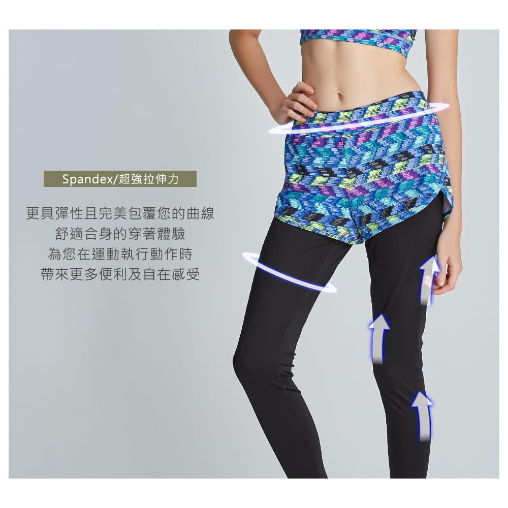 【yulab】(台灣製)女彈性數位假兩件內搭褲-2色可選 4
