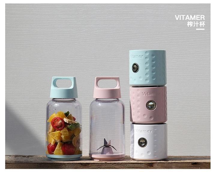 自動果汁隨行果汁機 榨汁機  USB 充電 手提把設計 11