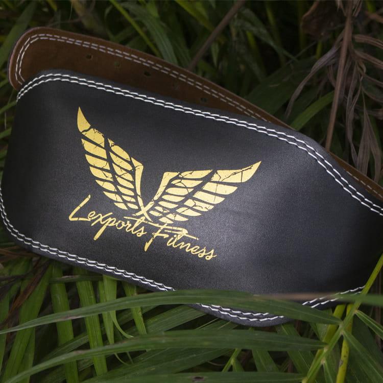 【LEXPORTS 勵動風潮】專業重訓健美腰帶 ◆ 皮革雙扣腰帶 2