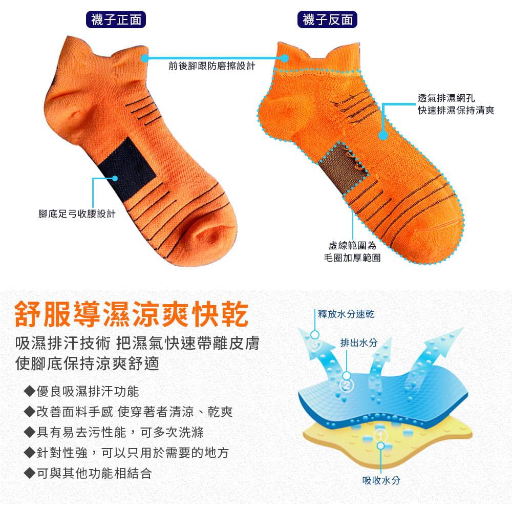 3D透氣排濕防滑運動襪 6