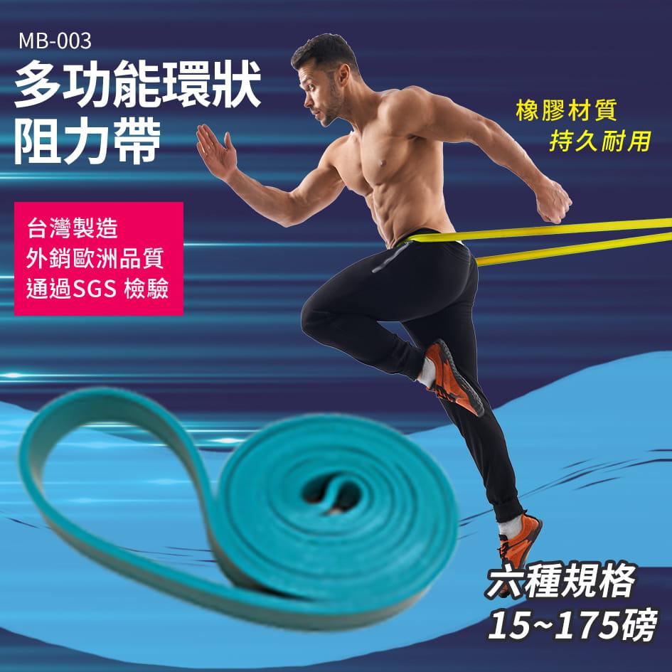 20磅 綠色 多功能環狀阻力帶◆ 台灣製 阻力圈 拉力帶 拉筋帶 健身房 TRX 阻力繩 重訓 瑜珈 0