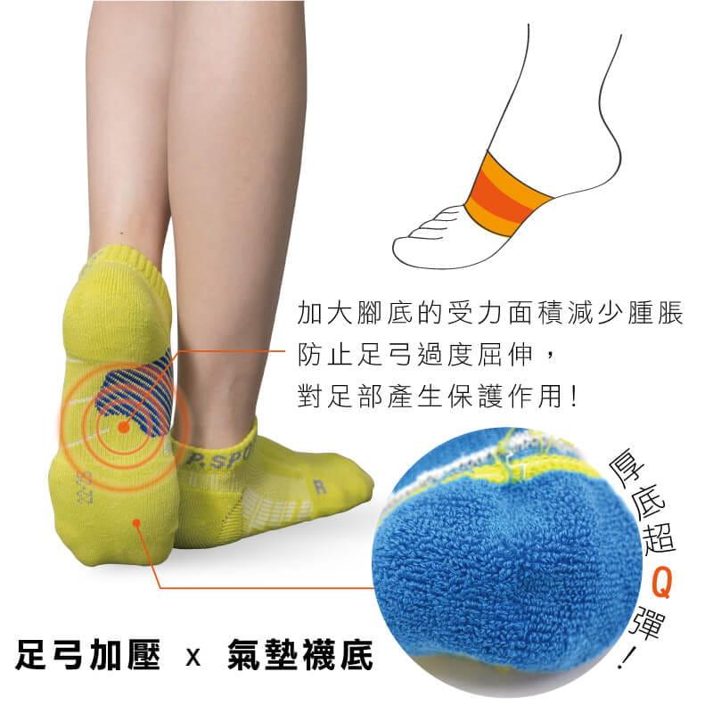 【Peilou】足弓加壓護足氣墊船襪(男/女可選) 9
