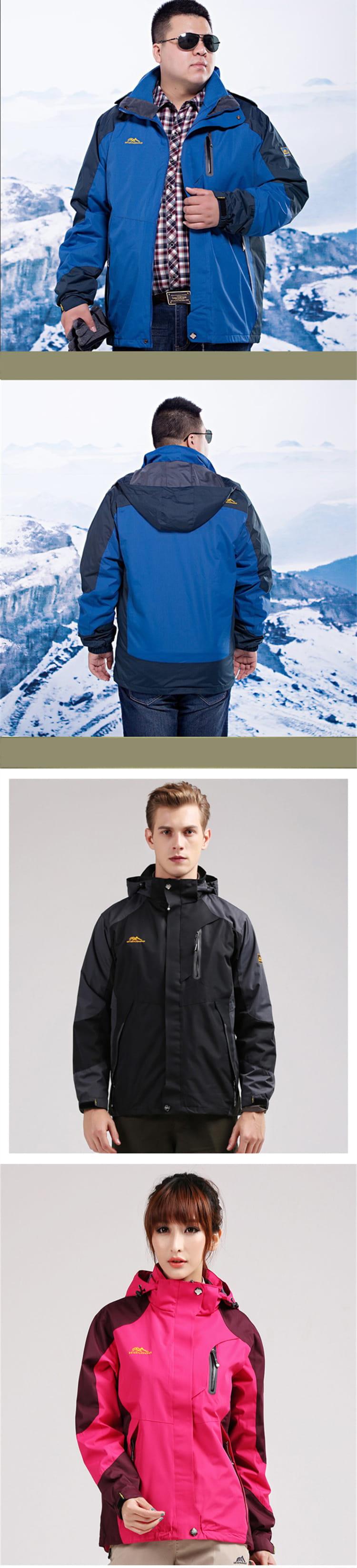加大碼三合一真禦寒機能衝鋒衣外套  防水防風戶外登山外套 男/女款 XL~8XL【CP16001】 10