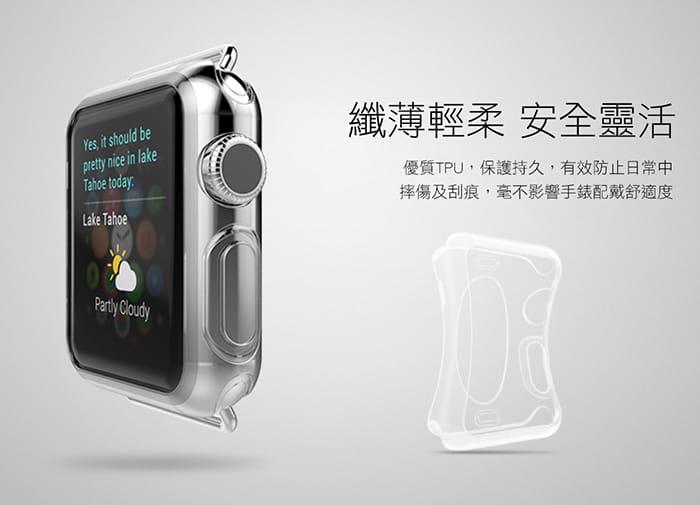 AdpE Apple Watch 3/4/5/6/SE 專用 透明邊框保護殼套 6