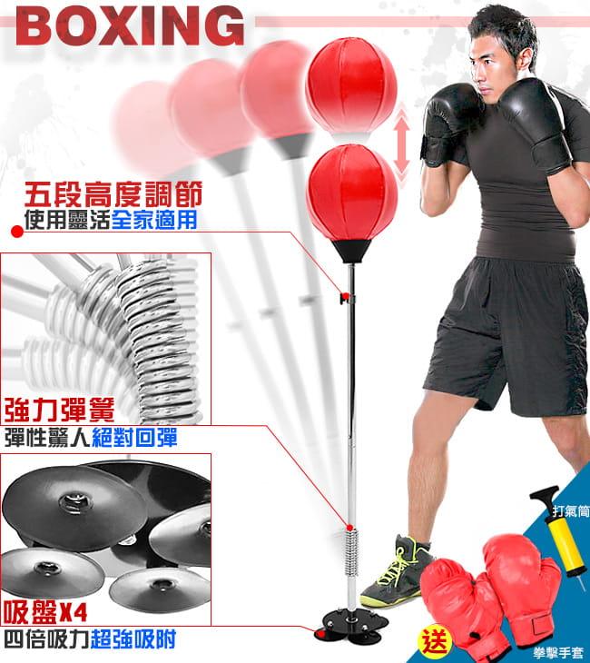吸盤底座立式速度球(送拳擊手套+打氣筒) 6