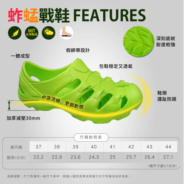 【母子鱷魚】MIT超彈力蚱蜢戰鞋 11