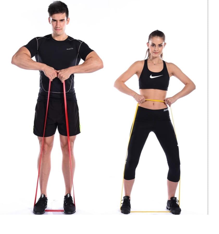 【CAIYI 凱溢】天然乳膠 專業加強版加厚型 力量訓練彈力帶 健身阻力帶 拉力圈 橘色 3