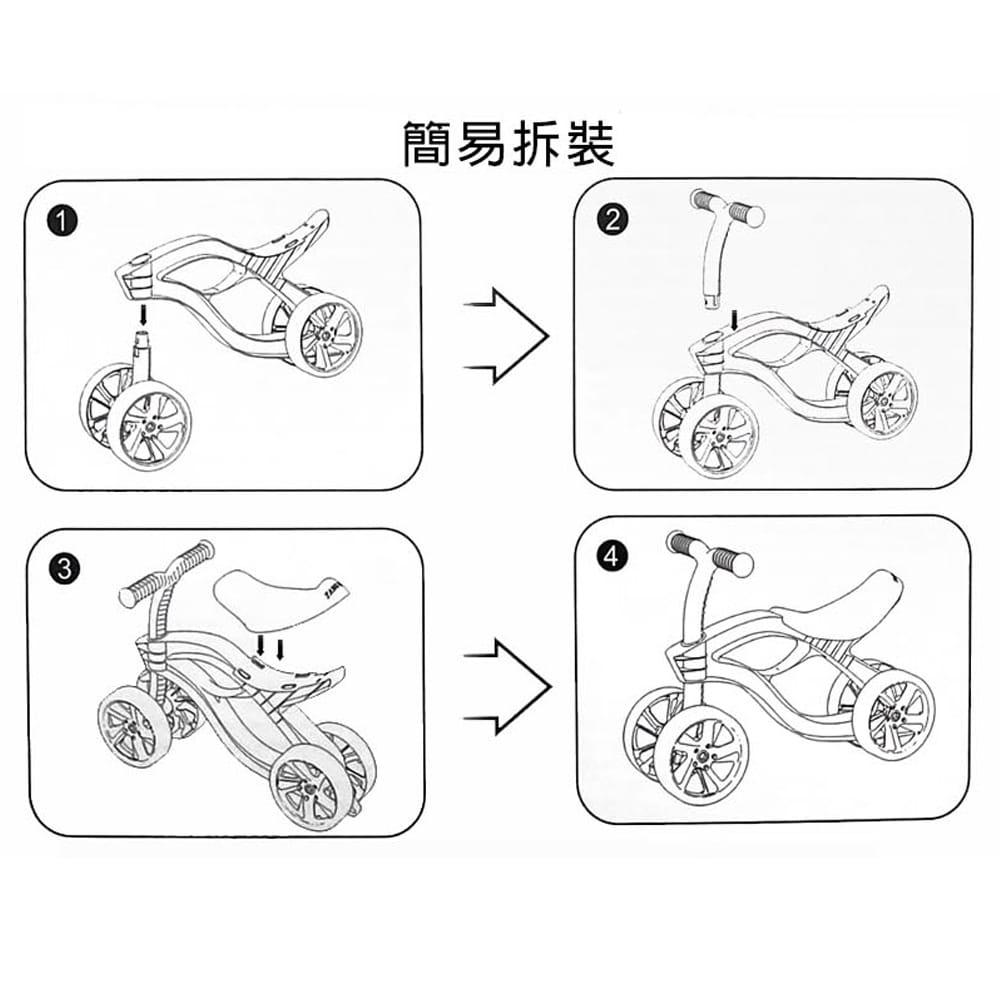 【GCT生活嚴選】【GCT玩具嚴選】平衡感學步車輕巧型 4