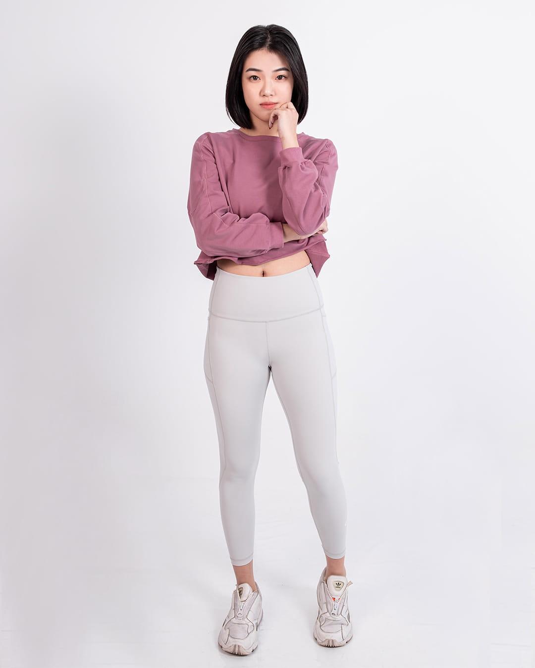 【GLADE.】Fit Me 九分緊身褲 (芝麻牛奶) 2