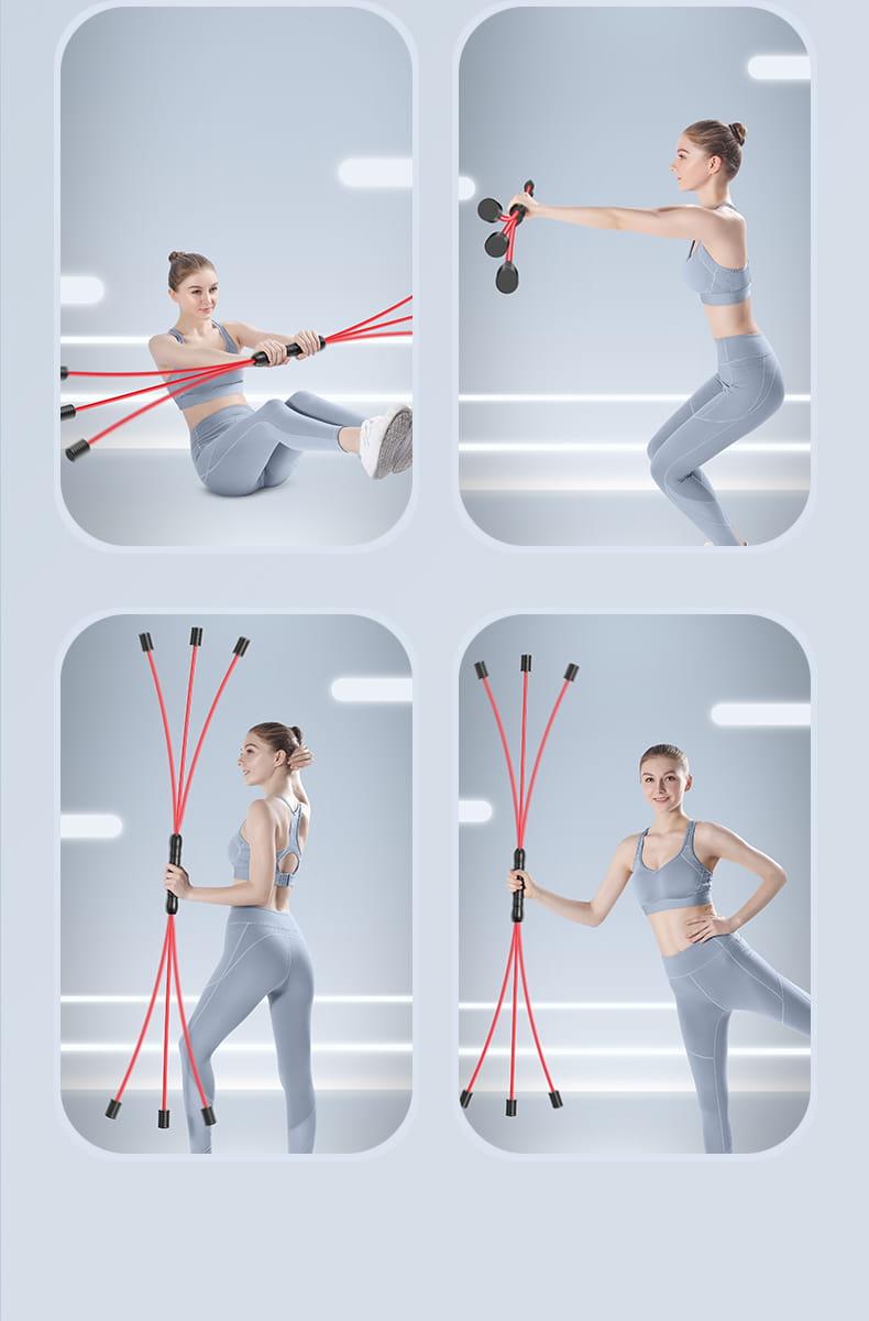 飛力仕棒 多功能健身訓練棒 飛力士健身器材 家用減肥 彈力震顫棒 抖音爆款 11