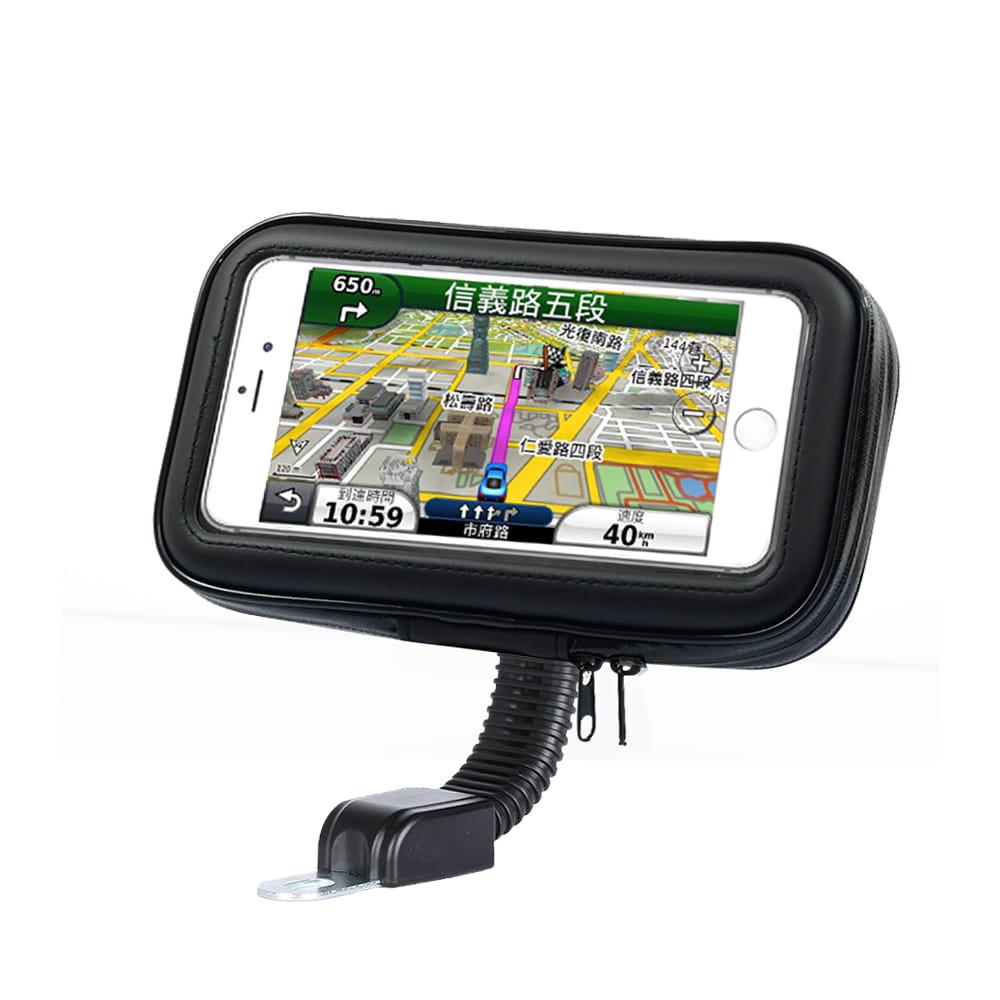 Smart Mall◆後鏡款導航防水抗震自行車機車手機包手機支架6.8吋以下通用