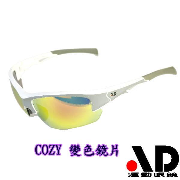 【AD運動眼鏡】AD-COZY高科技多層鍍膜變色鏡片運動太陽眼鏡/白天到夜晚一付搞定/全方位保護眼睛 0