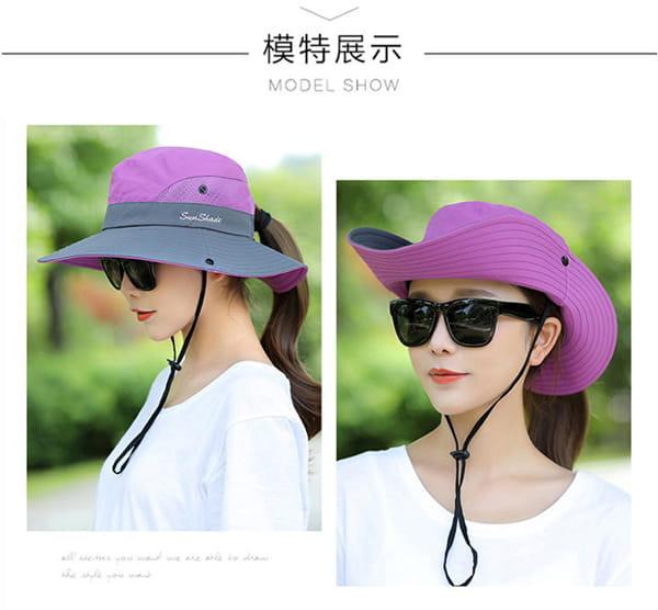 超透氣網狀防曬遮陽帽(男女適穿) 12