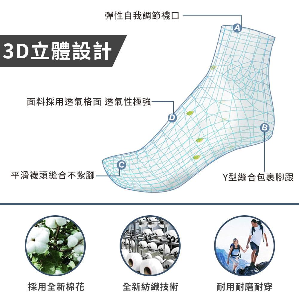 3D透氣排濕防滑運動襪 5