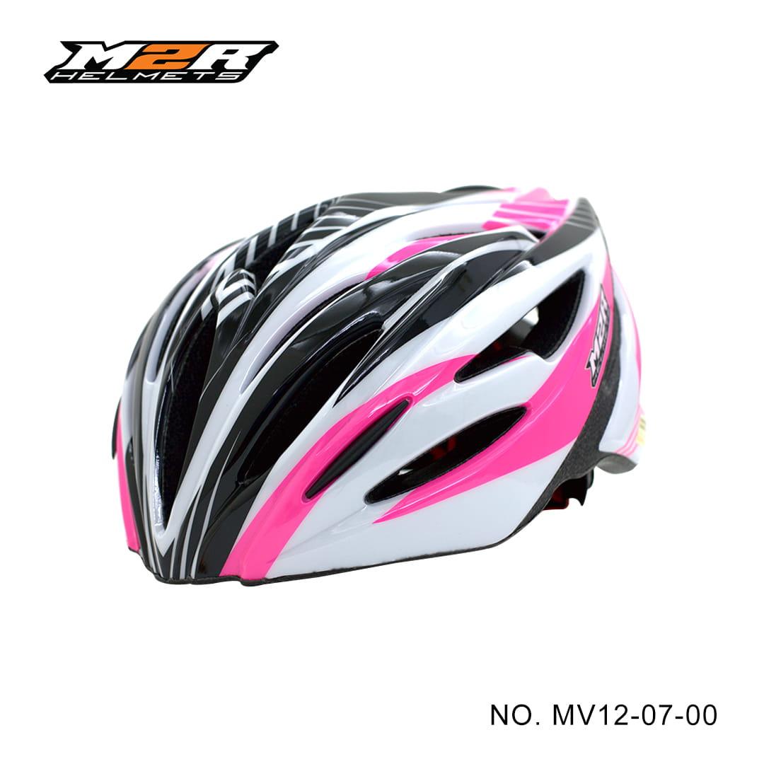 【路達自行車衣館】M2R 》MV12專業自行車安全帽 ★白粉 MV12-07-00 0