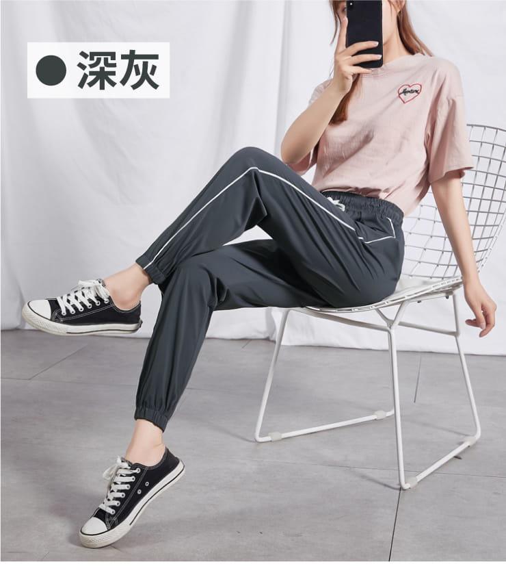 冰絲涼爽條紋顯瘦運動褲 12