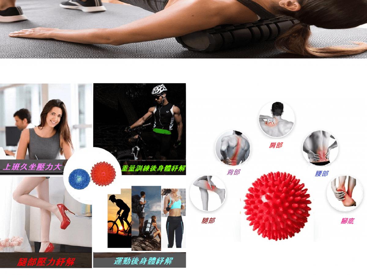 周年慶優惠【u-fit】外銷歐美全方位按摩紓壓瑜珈滾輪5件組 6