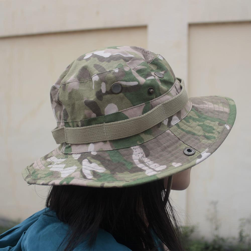 【E.City】可翻釦迷彩風戶外遮陽帽漁夫帽 0