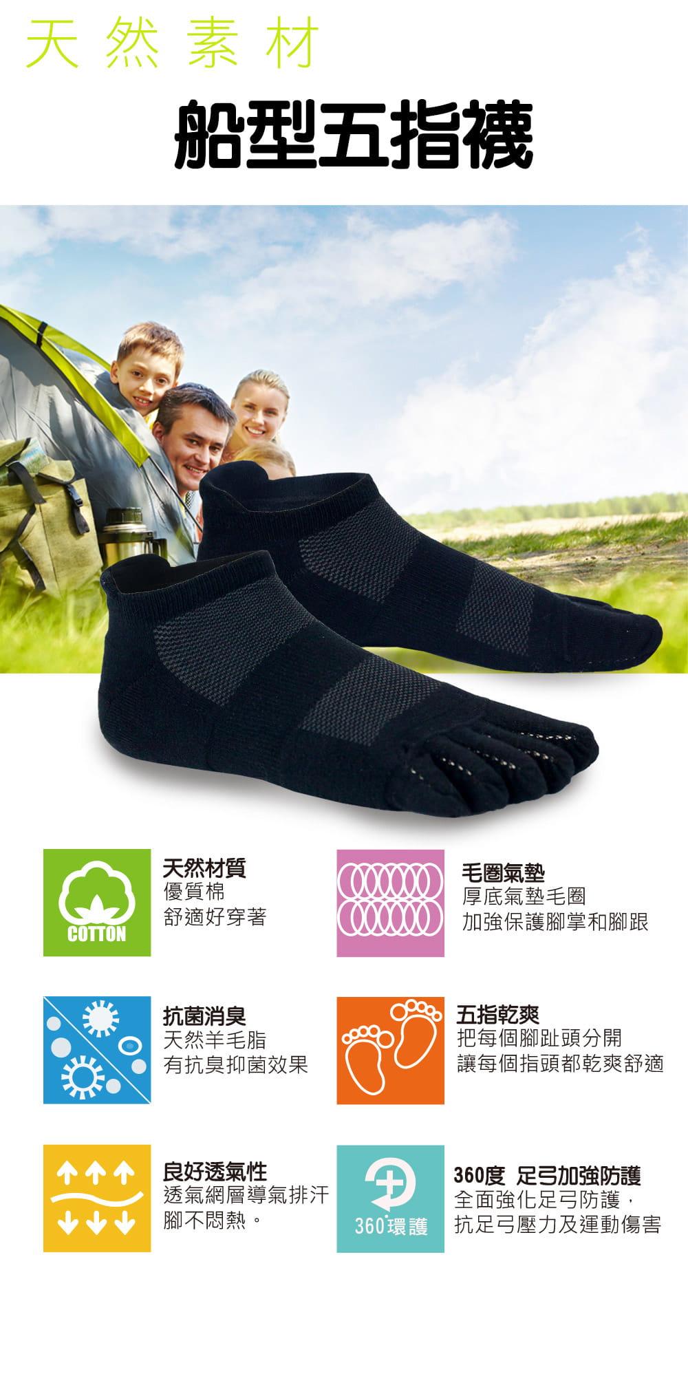 【sina cova 老船長】【老船長】(8469)EOT科技不會臭的襪子船型運動五趾襪 男款24-28CM 5