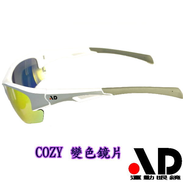 【AD運動眼鏡】AD-COZY高科技多層鍍膜變色鏡片運動太陽眼鏡/白天到夜晚一付搞定/全方位保護眼睛 2