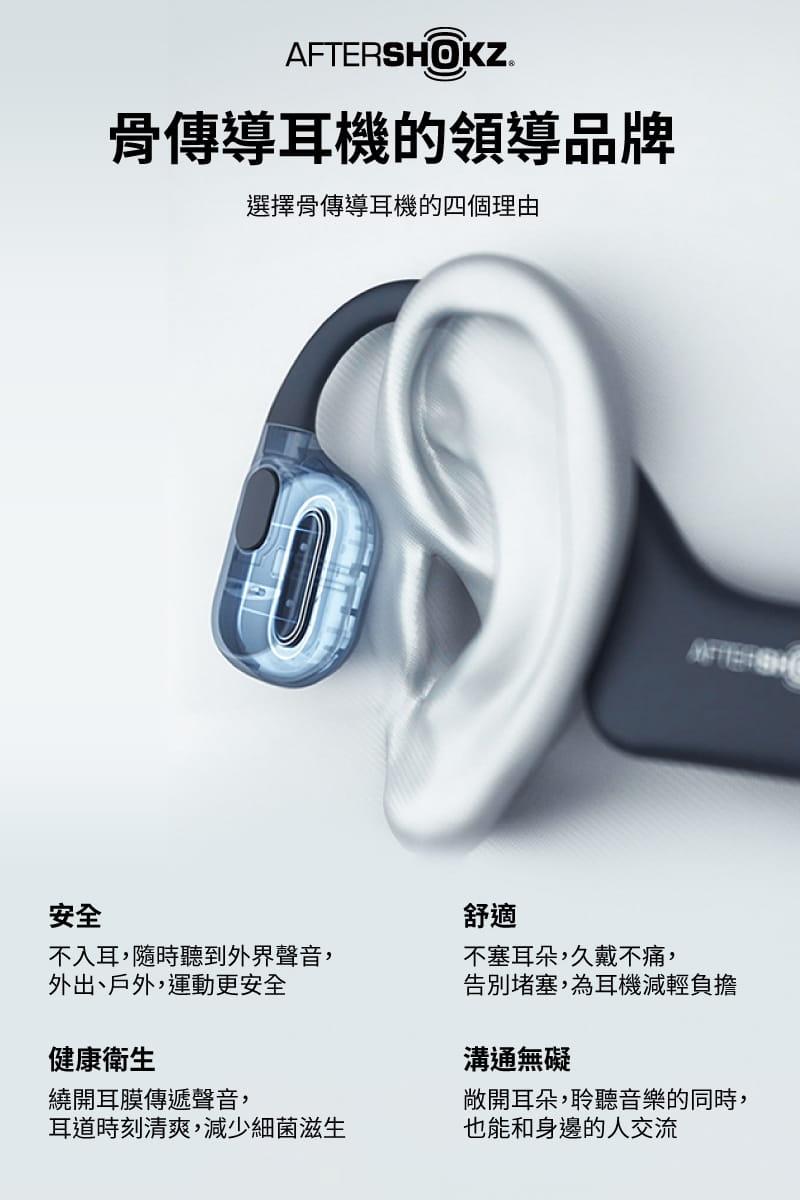 【AFTERSHOKZ】OPENMOVE AS660骨傳導藍牙運動耳機(純真白) 18