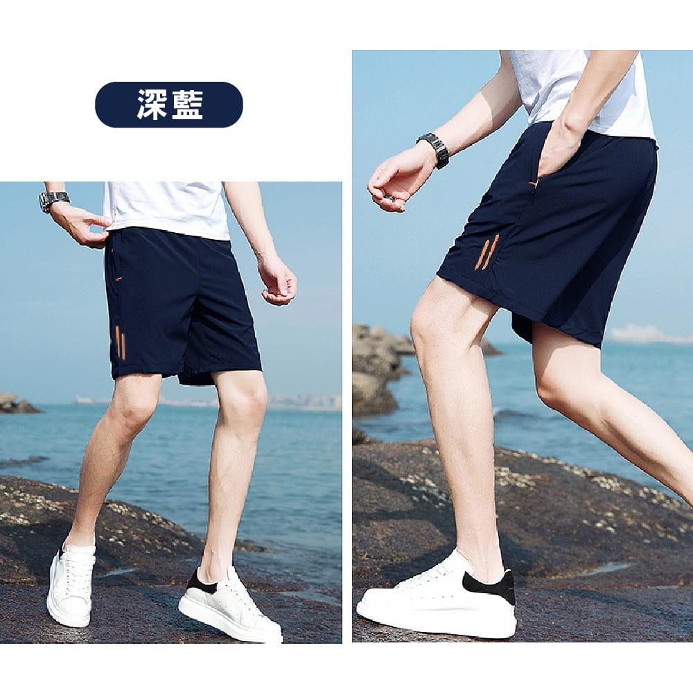 【NEW FORCE】彈性修身鬆緊腰帶男短褲-2色可選 6