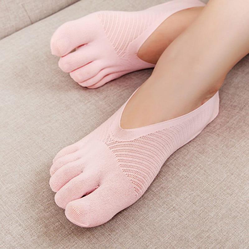 舒適透氣五指船襪 7