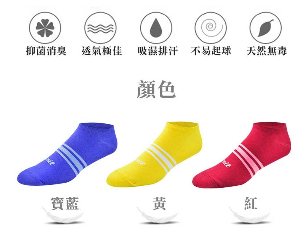 【力美特機能襪】三紋船型襪(紅) 3
