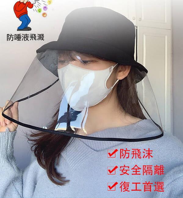 【台灣現貨】防護帽 防飛沫帽 透明面罩  飛沫阻擋 防護面罩  隔離唾沫 防疫用品 7