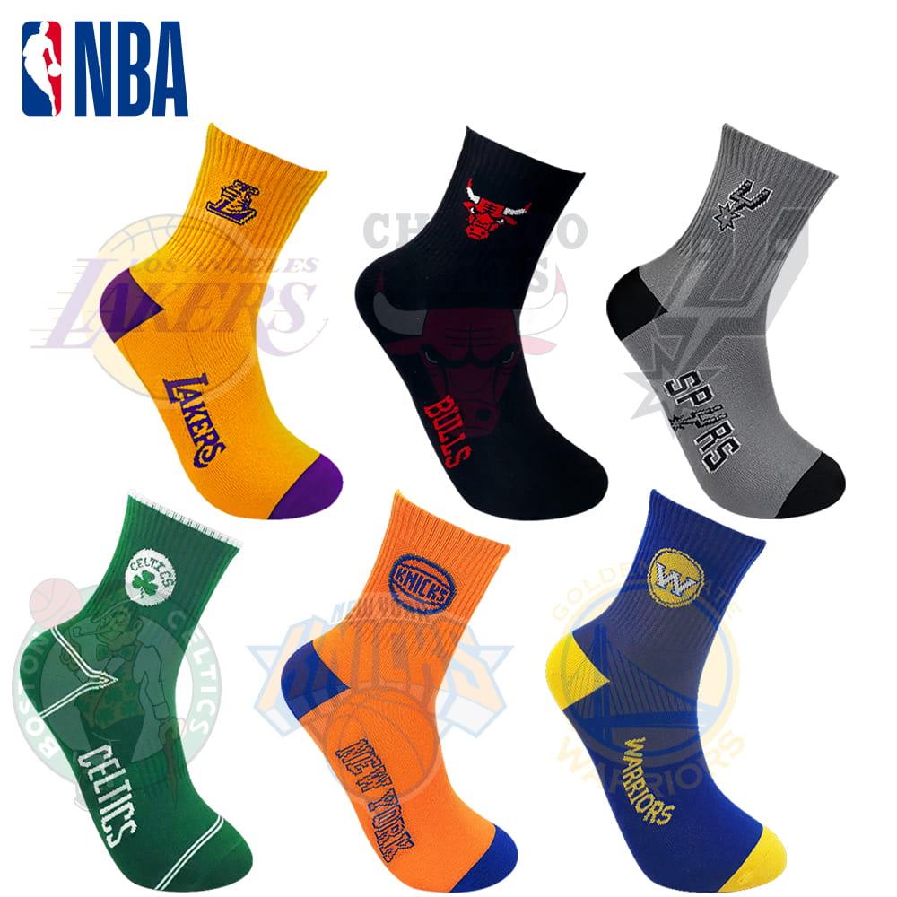 【NBA】球隊款緹花中筒襪 0
