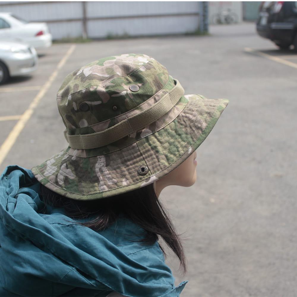 【E.City】可翻釦迷彩風戶外遮陽帽漁夫帽 5