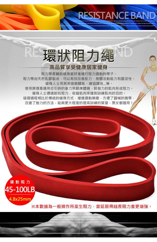 台灣製造100磅大環狀彈力帶  (LATEX乳膠阻力繩.手足阻力帶) 1