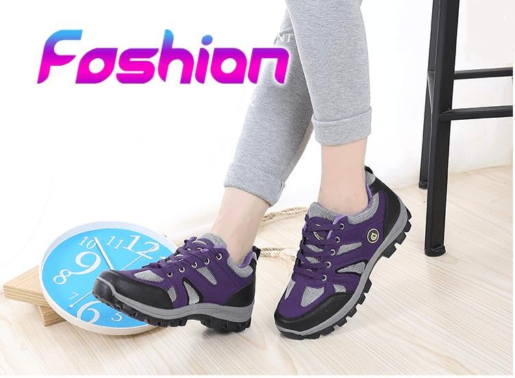 新款登山鞋秋冬季戶外女徒步鞋防滑耐磨旅遊鞋爬山防水運動女鞋 1
