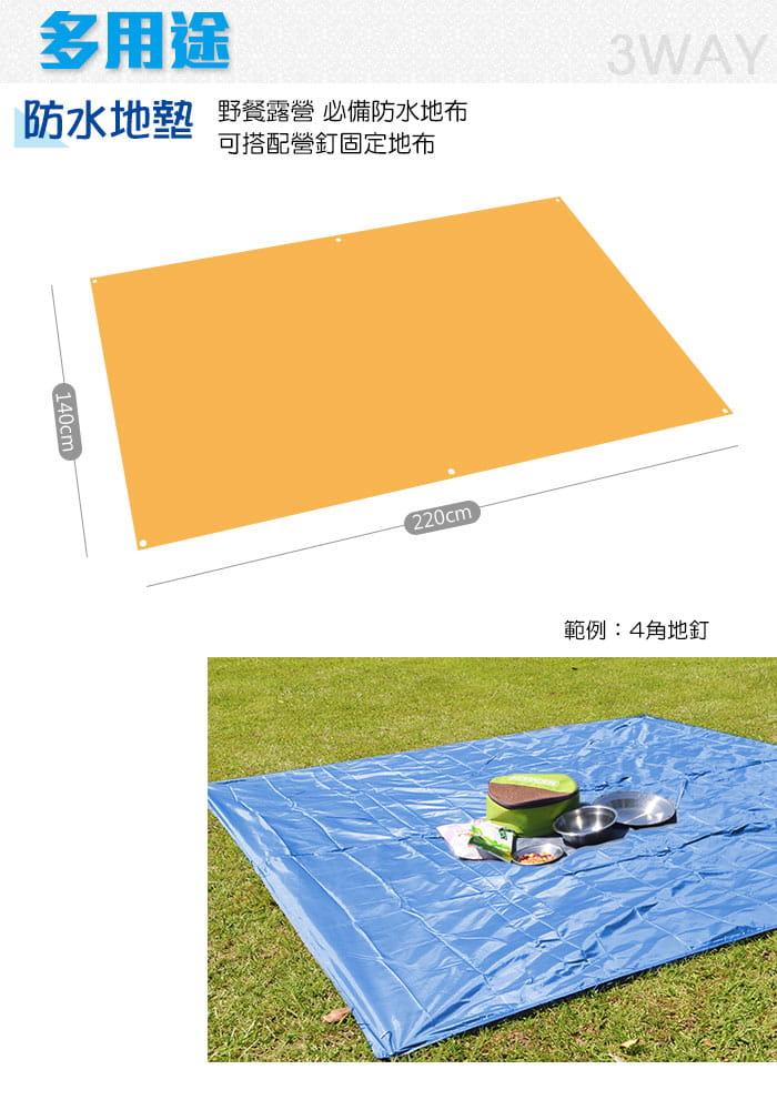 多功能三用登山雨衣(附收納袋) 藍/橘 3