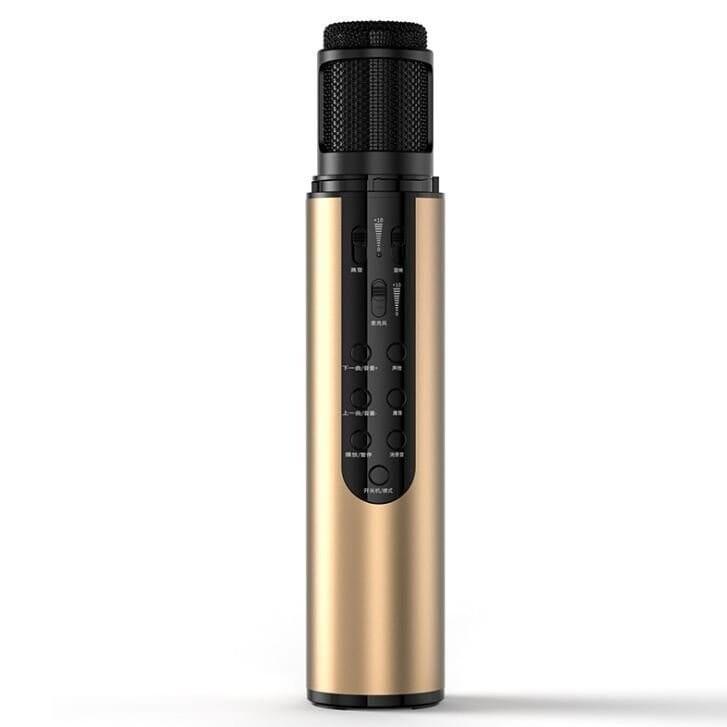 K1 二合一音效卡麥克風/ 直播麥克風 變聲藍牙K歌音響話筒一體成型 2