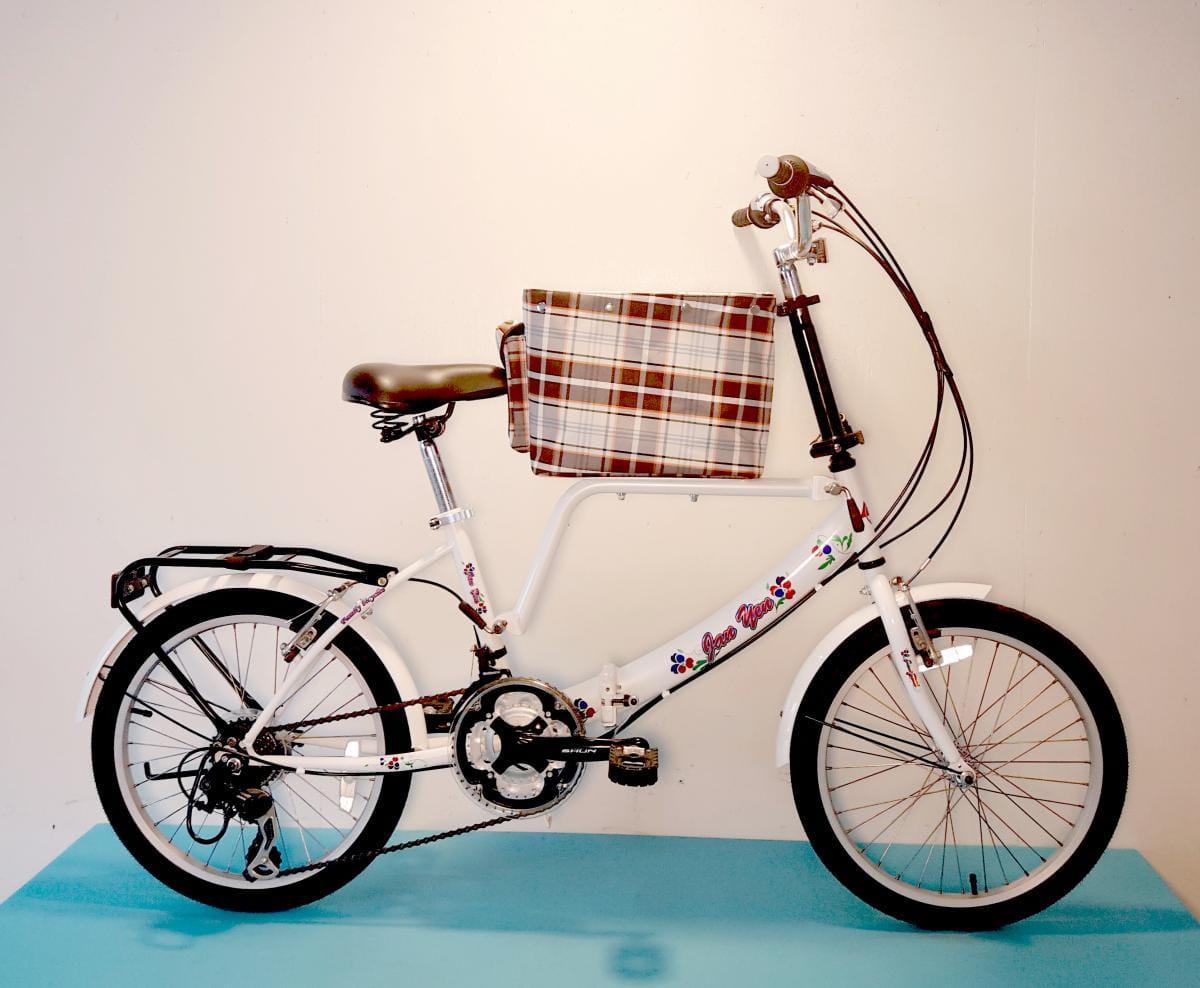 台製 20吋 21速 SHIMANO 摺疊 中籃 寵物腳踏車 1