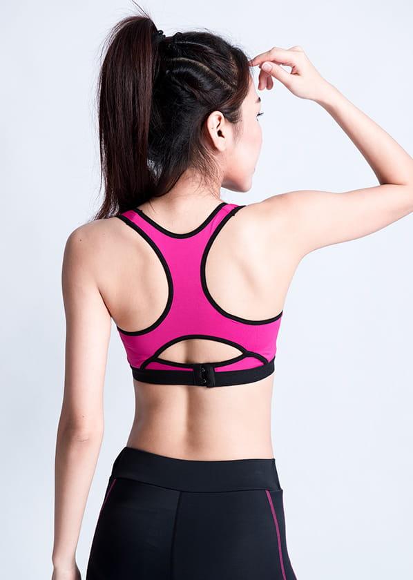 【WISENFIT】台灣製 背扣式運動內衣 7