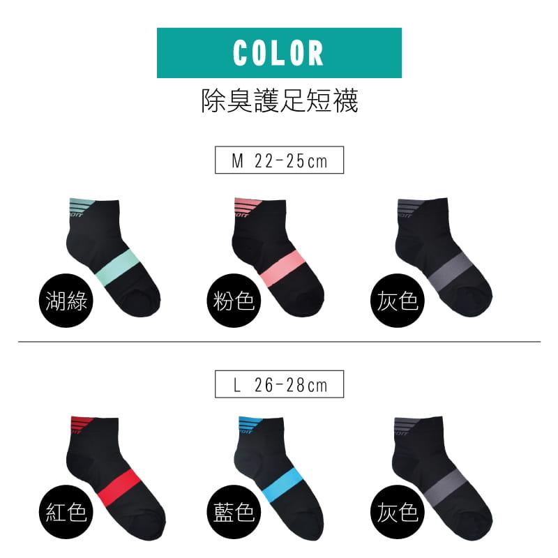 【Peilou】除臭抑菌足弓氣墊短襪-男女款 4