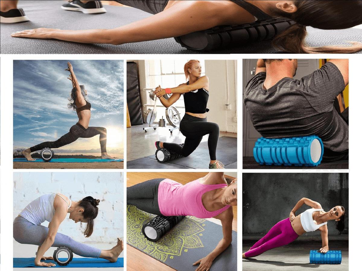 周年慶優惠【u-fit】外銷歐美全方位按摩紓壓瑜珈滾輪5件組 5