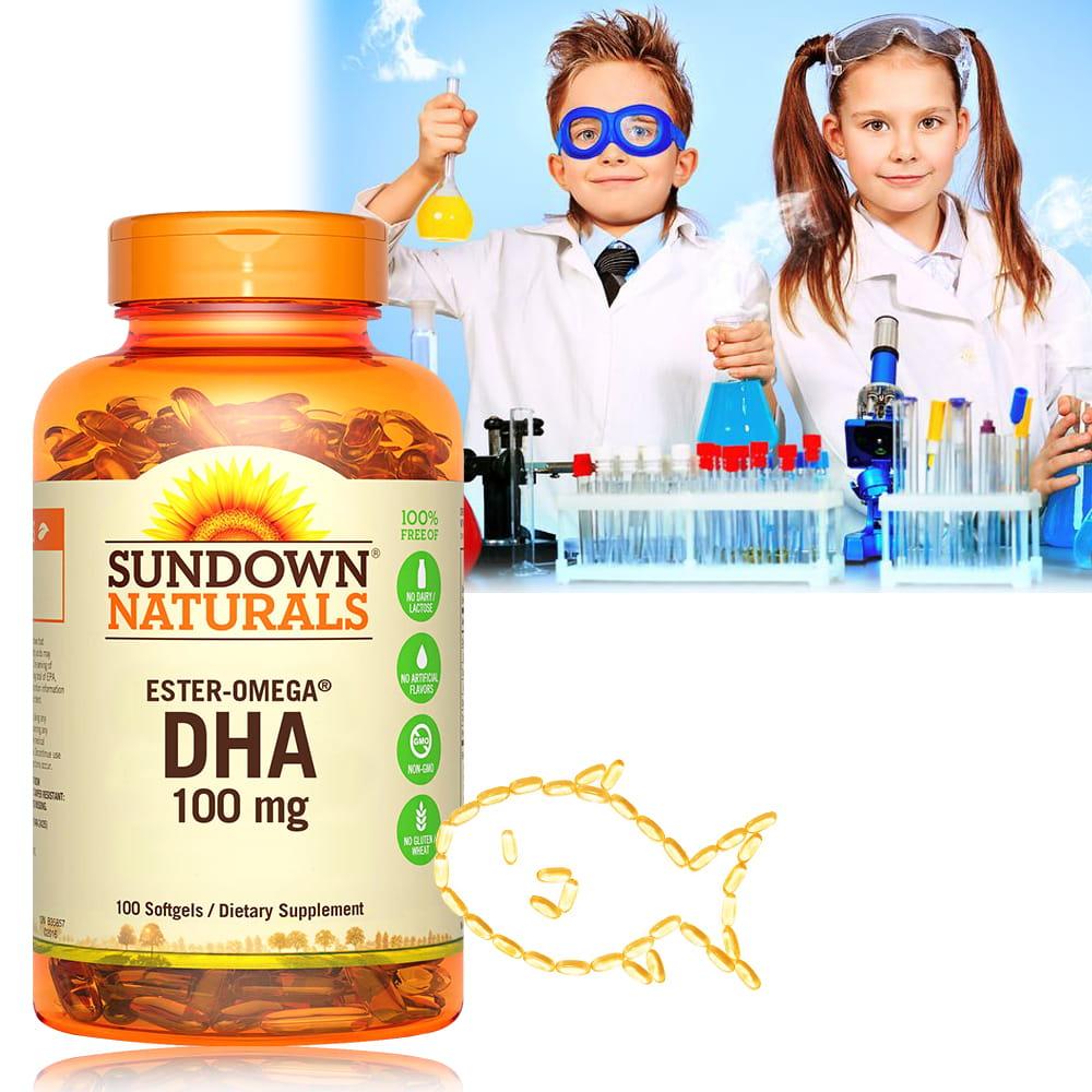 【美國Sundown日落恩賜】兒童精明鮪魚油DHA軟膠囊(100粒/瓶) 0
